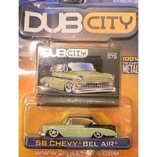 Jada Dub City Green and Black 1956 Chevy Bel Air 1:64