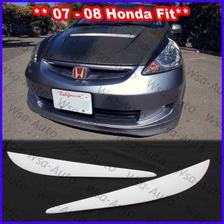 07 08 Fit Jazz JDM Style Eyelids Fiber Glass Honda GD3 vtec Spoon