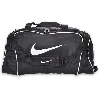 Nike Brasilia 4 Medium Duffel Bag Black/White