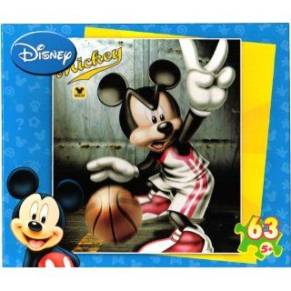 Disney Mickey 63 Piece Puzzle ~ Basketball Toys & Games