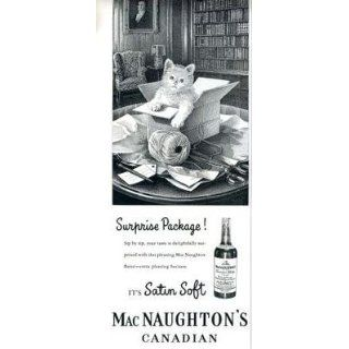 MacNaughtons Canadian Whisky Magazine Ad Kitten