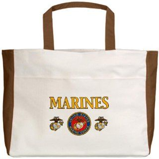 Beach Tote Mocha Marines United States Marine Corps Seal