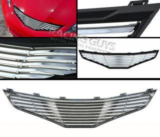 09 10 Honda Fit Chrome Black Billet  Grille Grill New JDM Style