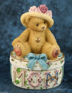 Cherished Teddies Mom Covered Trinket Box 306614A with Bear 2001