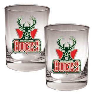 BSS   Milwaukee Bucks NBA 2pc Rocks Glass Set   Primary
