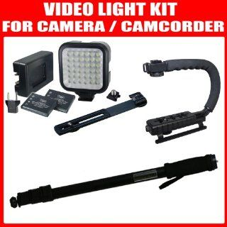 Ion Batteries and Charger + 67 Light Weight Monopod