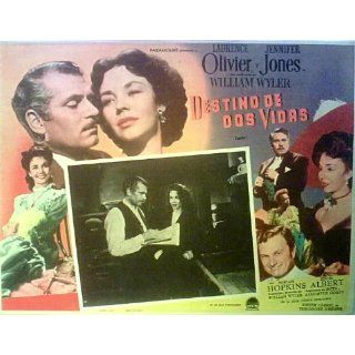 Laurence Olivier, Jennifer Jones CARRIE LOBBY CARD GENUINE