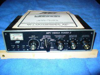 MFJ Versa Tuner II Model MFJ 941D Ham Radio Antenna Tuner