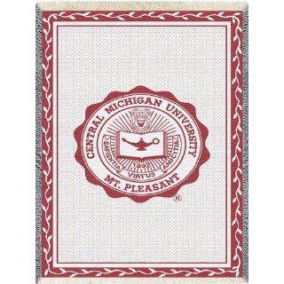 Central Michigan Univ Seal Throw   69 x 0 Blanket/Throw