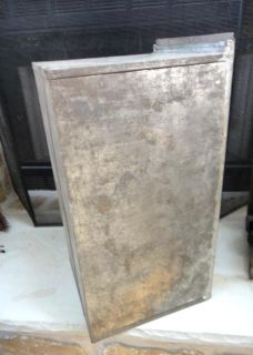 antique LRG Hoosier Cabinet Drawer Bread Box Tin Early
