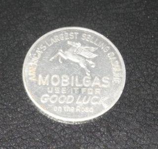 1950s Baseball Pin Coin Token Mobilgas Gasoline Minneapolis Game