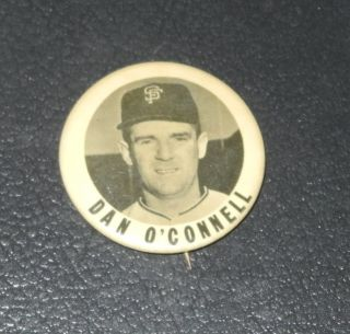 1950s PM10 Baseball Pin Button Coin Dan OConnell San Francisco Giants