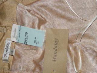 Mandalay Gold Horizon Sequined Spaghetti Strap Dress 8 $985