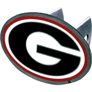 Georgia Bulldogs NCAA Pewter Trailer Hitch Cover by Half