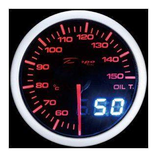 Depo Racing 52mm Red white LED Digital oil temp Gauge