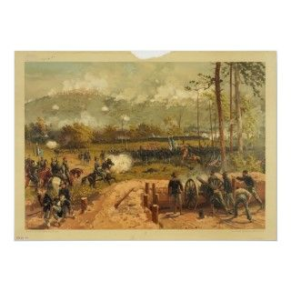 American Civil War Battle of Kennesaw Mountain Poster
