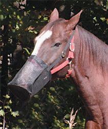 mesh feed bag black new grain horse hay adjustable rodeo feedsack
