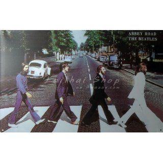 Abbey Road the Beatles, Metal Tin Sign, Dumb Oil Scrub Art