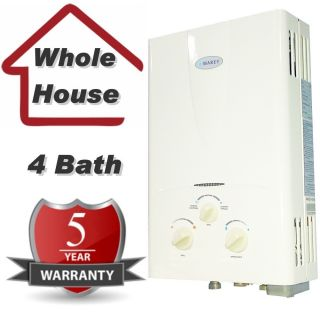 Demand Propane Gas Tankless Hot Water Heater Whole House 16L 4 3 GPM