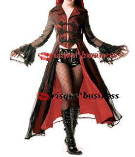 Frock Coat Fancy Dress Halloween Costume PVC Hotpants L 12 14