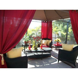 Outdoor Gazebo Patio Drapes Dark Red Solid 108 Includes