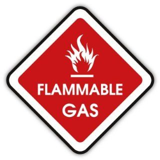 Flammable gas car bumper sticker decal 5 x 5 Everything