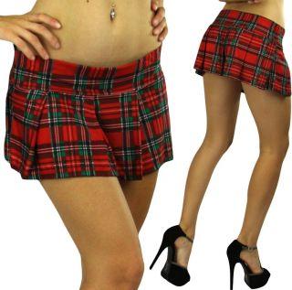 Super Sexy Plaid Pleated School Girl Mini Skirt Costume Tennis