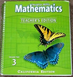 Harcourt Math 3rd Grade 3 Math Teachers Edition Vol 2 0618094954