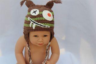 New Handmad Gorgeous Pilot Baby Toddler Earmuffs Hat Beanie Newborn to