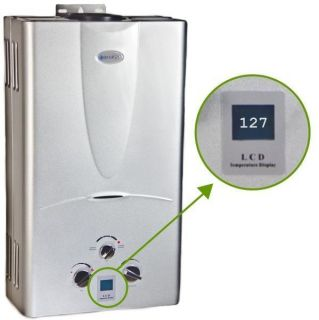 Gas Tankless Hot Water Heater 3 1 GPM Whole House Digital Temp Gauge