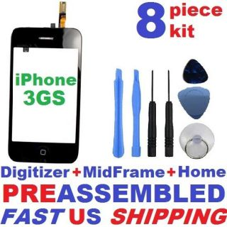 Digitizer Mid Frame Home Replacement Assembly Tools for iPhone 3GS