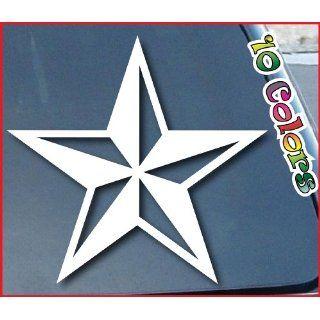 Nautical Star Car Window Sticker 7 Wide White Everything