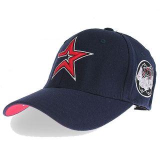 Houston Astros Flex Fit Flexible Band Hats Baseball Ball Cap Navy