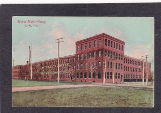 Erie PA Metric Metal Works 1912