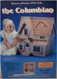 Very RARE Dura Craft The Columbian Miniature Doll House Kit
