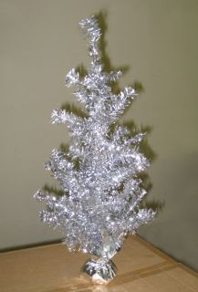 Silver 2 ft Beautiful Tinsel Christmas Xmas Decoration Tree Sparkling