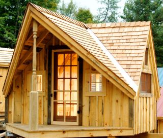 Tiny House Cabin Cottage Storage Garden Shed 12x14 Writers Haven