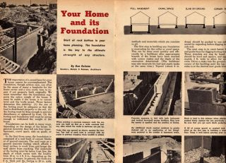 How to Build A Foundation Plans House Home Shed Garage Original