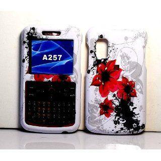 Red Lilly Flower Snap on Hard Skin Cover Case for Samsung