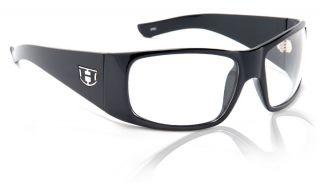 New Hoven Vision Ritz Sunglasses Black Gloss Shiny Frame Clear Lens