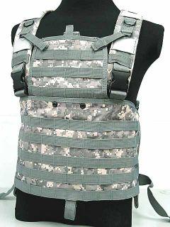 MOLLE Chest Rig Platform Carrier Vest Digital ACU Camo