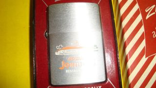 Howard Johnson Zippo Lighter in ORG Box