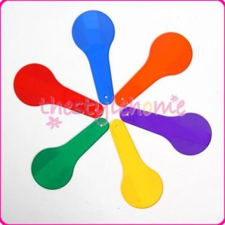 Racket Shape Color Card Tool for Kids to Learn Identify Colors