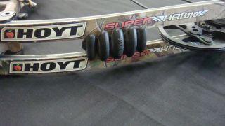 Hoyt Super Hawk Camouflage Dual Cam Compound Bow Fiber Optik Sights