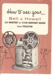 Bell Howell 253 253AR Movie Projector Manual Copy