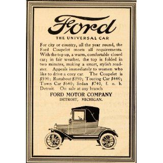 1916 Ad Ford Universal Car Sedan Touring Coupelet Town
