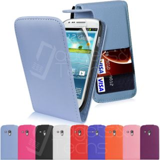 New Leather Flip Case Cover Fits Samsung Galaxy S3 Mini I8190 Free