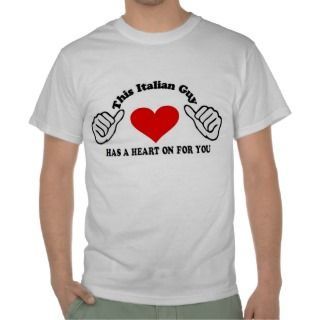 valentine This italian Guy has a heart on for you Tshirt