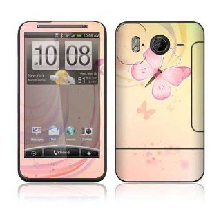 Pink Butterfly Decorative Skin Cover Decal Sticker for HTC