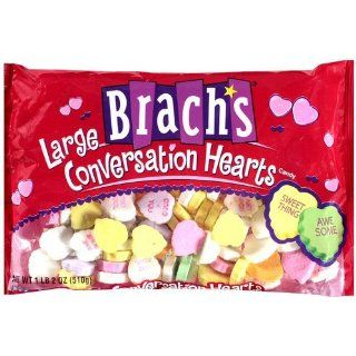 Brachs Candy Large Conversation Heart 21.5 Ounce Packages (Pack of 6